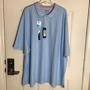 Izod Advantage Sport Flex Polo Shirt Light Blue 4X